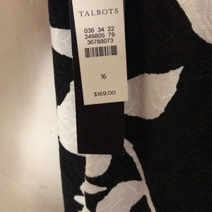8757fe07da3 Talbots Dresses - Talbots black white floral criss cross back dress
